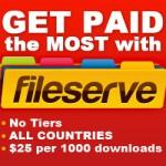 Kiếm tiền trên mạng với Fileserve, upload và chia sẻ file!