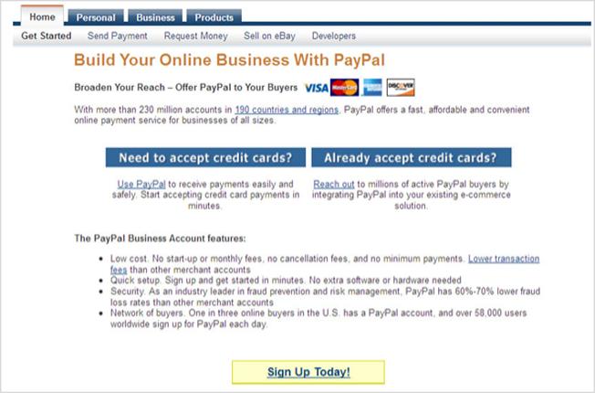 paypal 2 Hướng dẫn đăng kí tài khoản Paypal