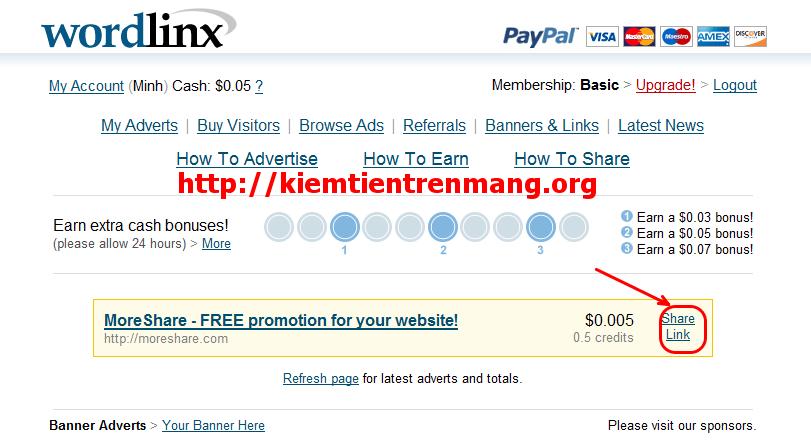 8 Kiếm tiền với Wordlinx, nên hay không?