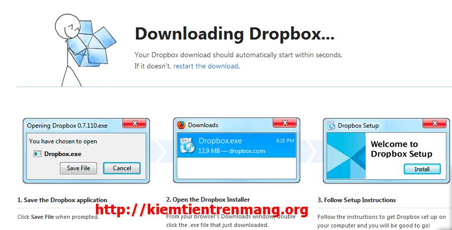 2 Dropbox tiện ích khá hay cho người kiếm tiền trên mạng