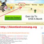 Sử dụng auto click kiếm tiền với donkeymails