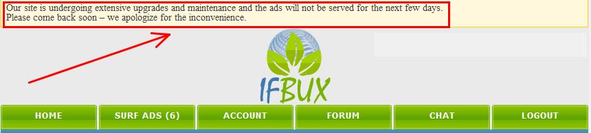 ifbux1 Một ít thông tin về các hot site ptc