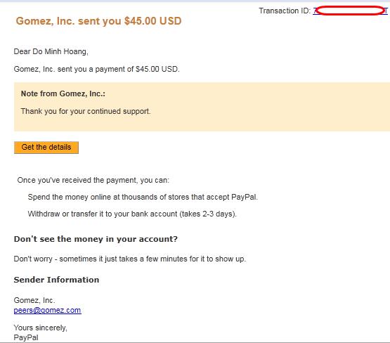 proof Gomez Kiếm tiền với Gomez không phải làm gì