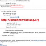 Bằng chứng thanh toán Palmbux ngày 13/01/2011