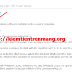 Khôi phục tài khoản webmoney classic khi có file key