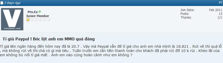 paypal Thanh toán trực tuyến Paypal dần chiếm ưu thế