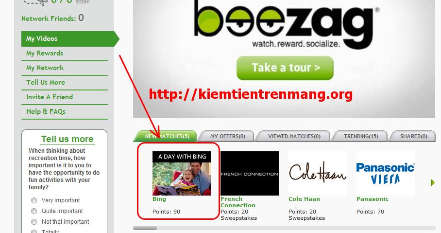 beezag1 Kiếm tiền với Beezag và tổng hợp các site sock free