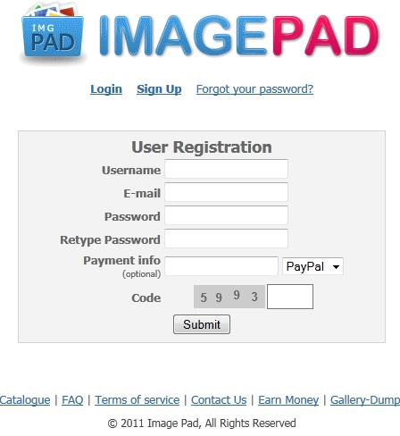 imagepad1 Kiếm tiền từ upload ảnh với imagepad.us