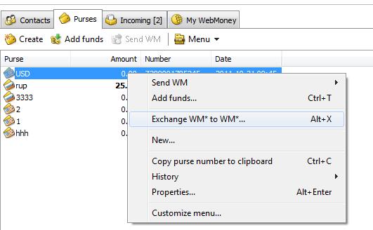 6 Cách chuyển đổi tiền tệ trong Webmoney