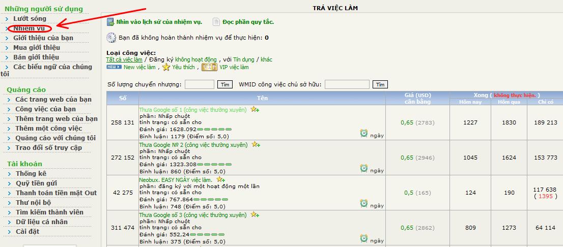 web ip4 Kiếm tiền trên mạng với Web ip.ru
