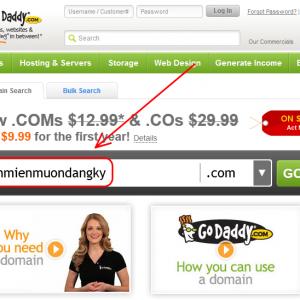 Mã khuyến mại tên miền: Godaddy coupon 2.67$