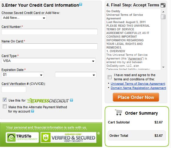 godaddy8 Mã khuyến mại tên miền: Godaddy coupon 2.67$