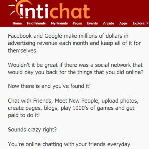 Kiếm tiền từ mạng xã hội mới Intichat.com
