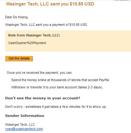 proof1 Kiếm tiền với Cashgopher, đã có proof