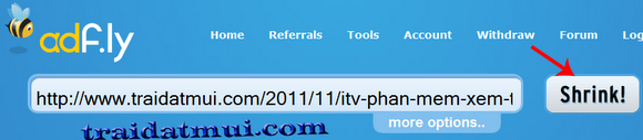 adf7 Kiếm tiền từ rút gọn link với Adf.ly