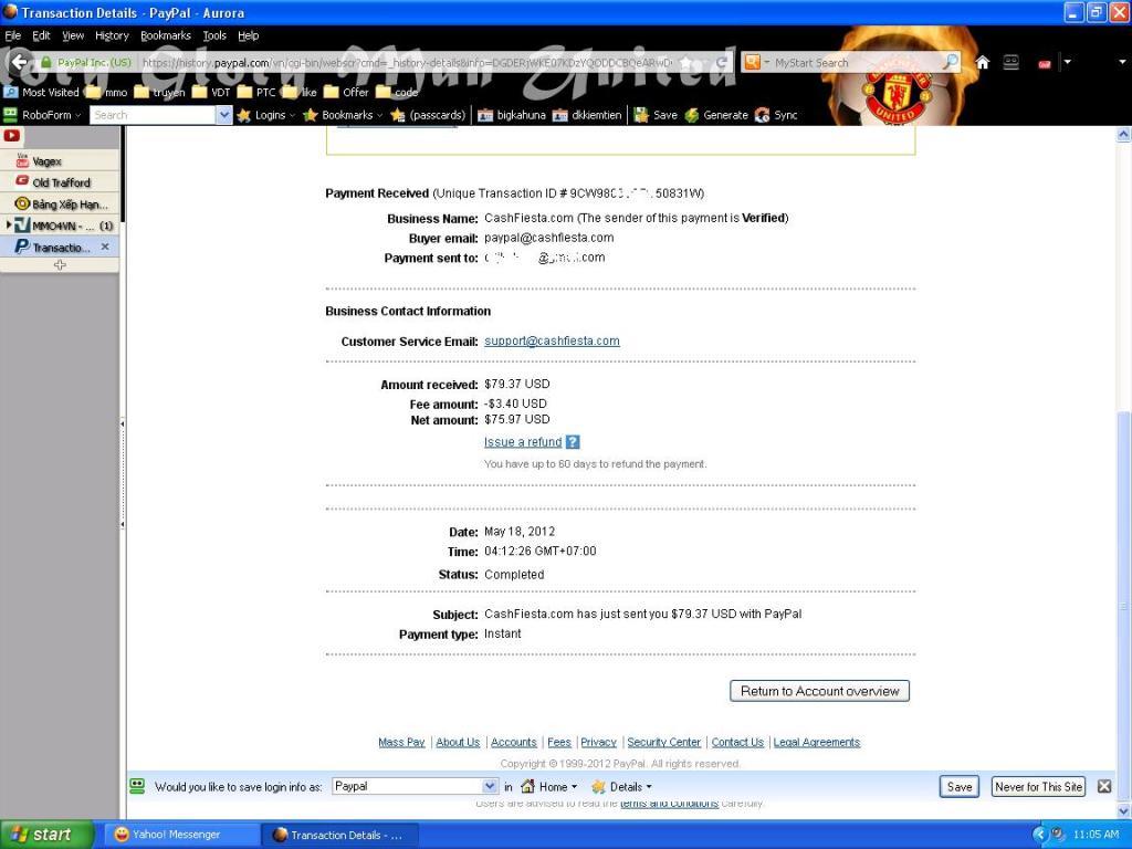 proof cashfiesta2 Kiếm tiền trên mạng với Cashfiesta.com