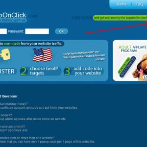 Poponclick - Kiếm tiền từ popup với website của bạn