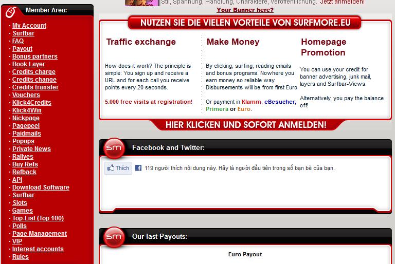 surfmore 5 Surfmore.eu   Site cashbar tổng hợp của Đức