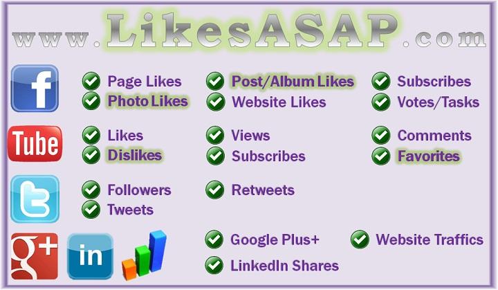 likesasap2 Kiếm tiền từ like facebook, G+, Youtube... với Likesasap.com