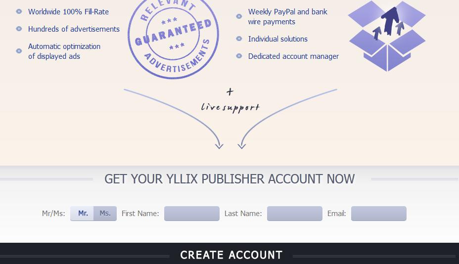 yllix 1 Yllix.com   Mạng quảng cáo nữa cho publishers
