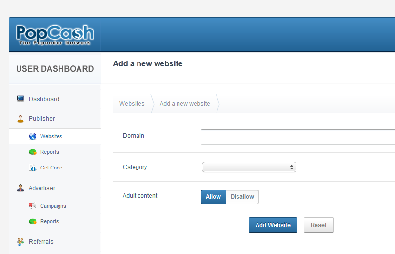 popcash 2 PopCash.net   Mạng quảng cáo pop upder cho website/ blog