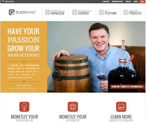 kiếm tiền qua mạng từ tiếp thị liên kết với ClickBank