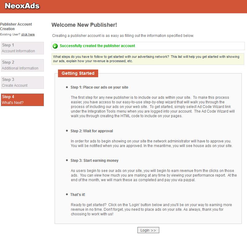 neoxads 4 NeoxAds   mạng quảng cáo mới cho webmaster
