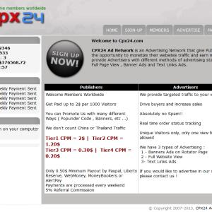 CPX24.com - Site kiếm tiền từ hình thức CPM lâu đời