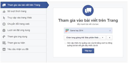 quang cao Facebook 8 Hướng dẫn tạo quảng cáo Facebook chi tiết