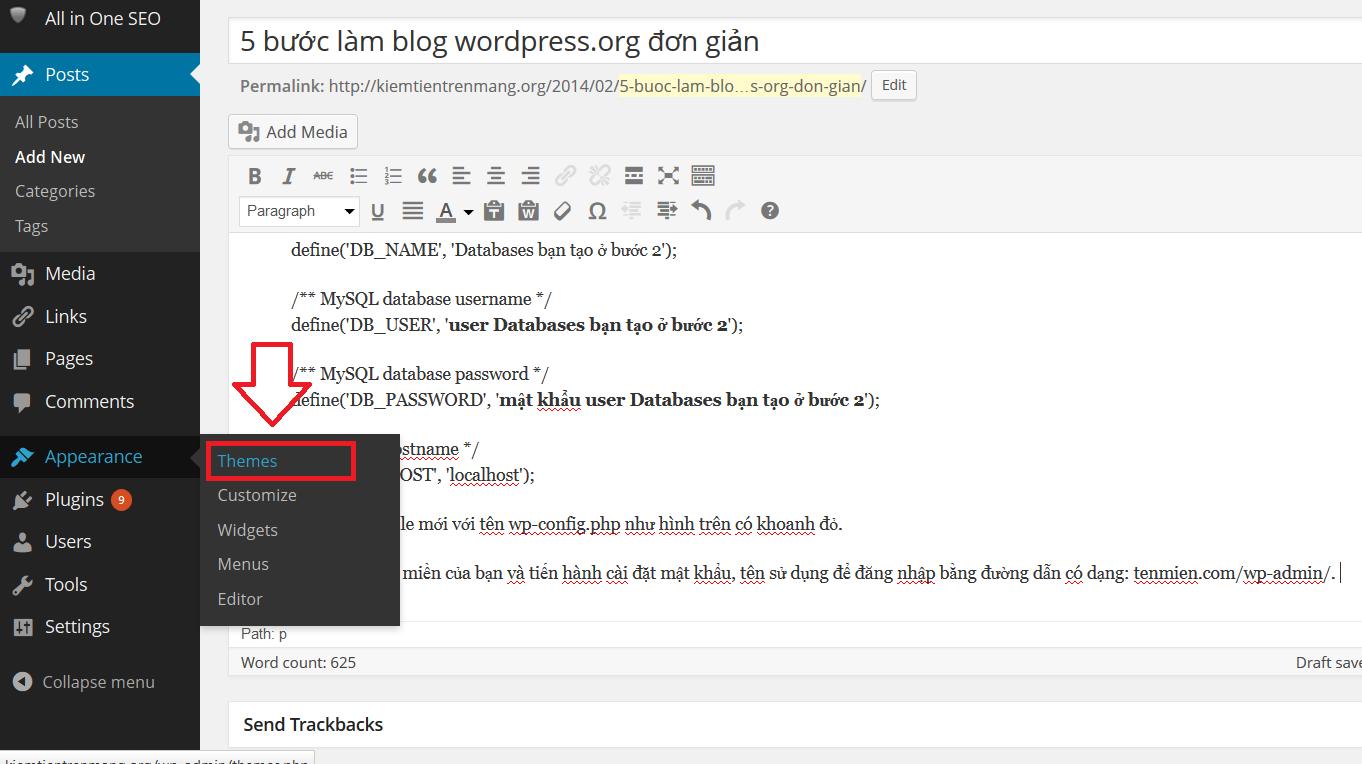 kiem tien tren mang tu lam blog