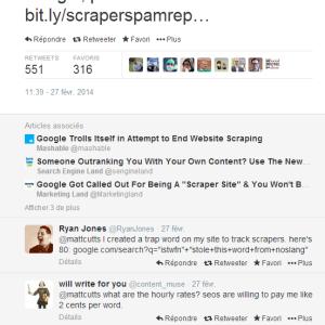 Scraper Report - công cụ thông báo Google nếu bài copy thứ hạng cao hơn của bạn