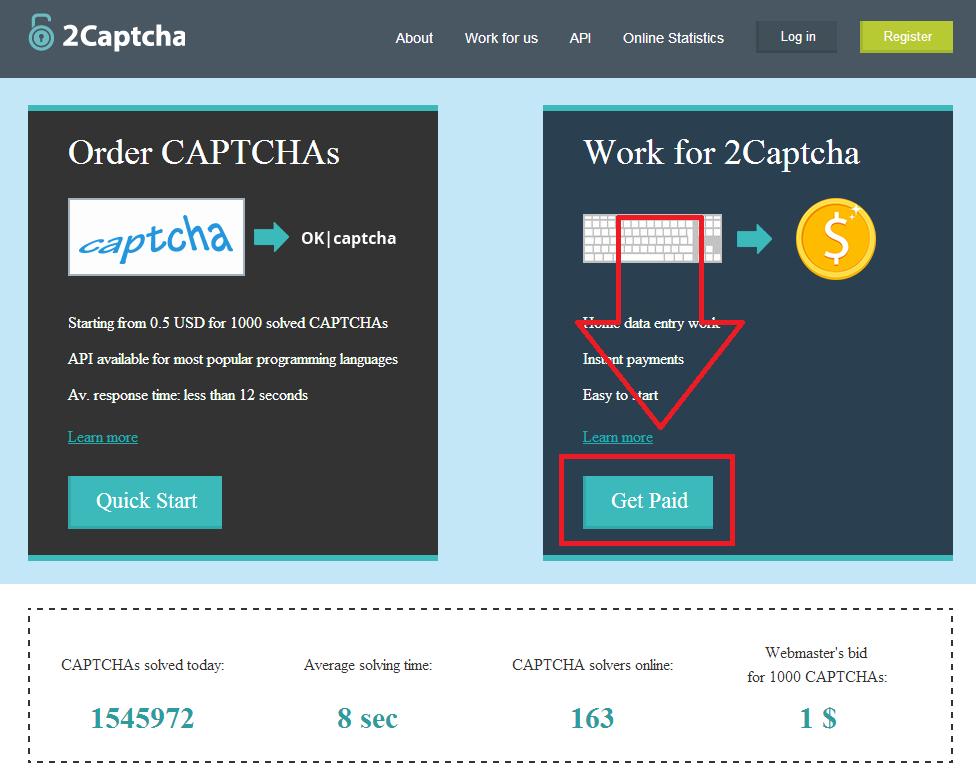 2captcha 1 Kiếm tiền từ việc gõ captcha với 2captcha.com