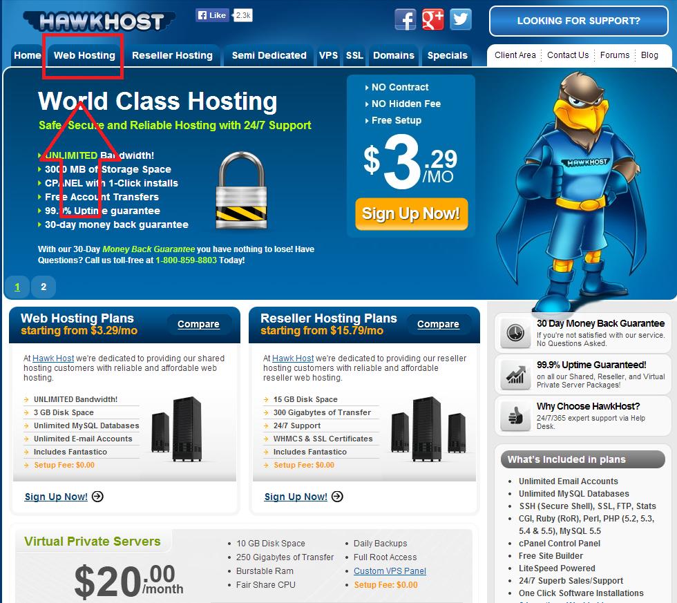 HawkHost 2 Hướng dẫn đăng ký HawkHost giảm giá 60%