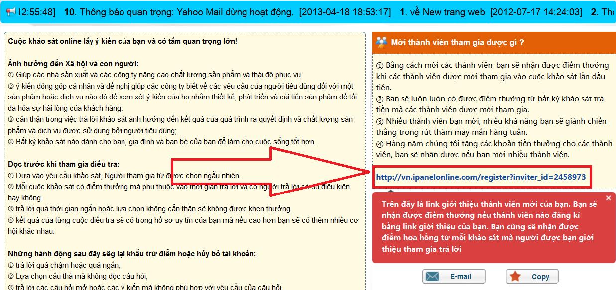 ipanelonline vn kiem tien tren mang 10 Kiếm tiền trên mạng từ chương trình khảo sát Ipanelonline của Việt Nam