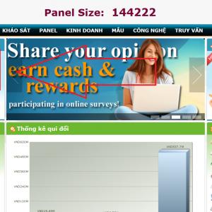Kiếm tiền trên mạng từ chương trình khảo sát Ipanelonline của Việt Nam