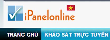 ipanelonline vn Kiếm tiền trên mạng từ chương trình khảo sát Ipanelonline của Việt Nam