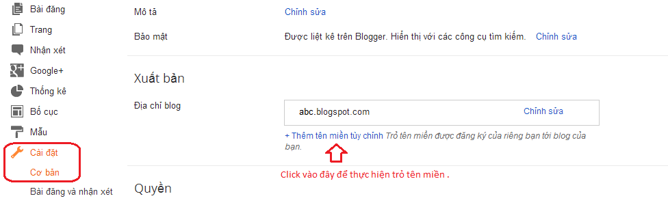 cach add ten mien vao blogspot 1