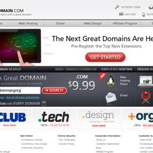 Domain.com giảm giá 40% tên miền - hosting