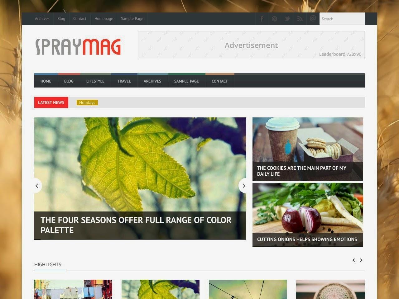 theme blogspot dep cho site tin tuc