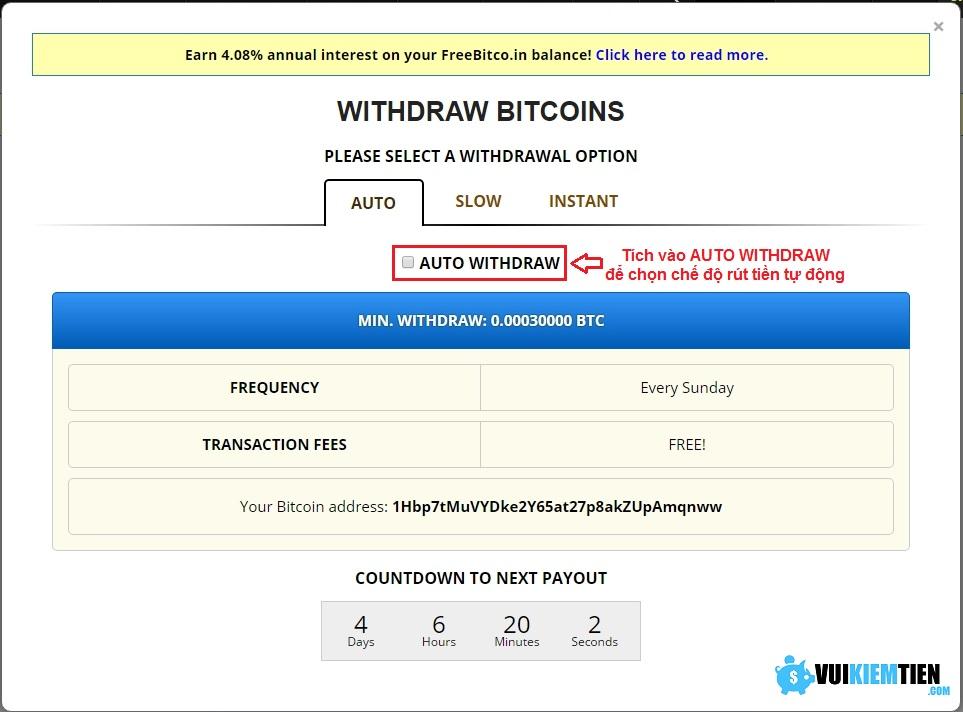 11 Thủ thuật kiếm tiền với Free Bitco.in: cá cược, đầu tư, gửi lãi